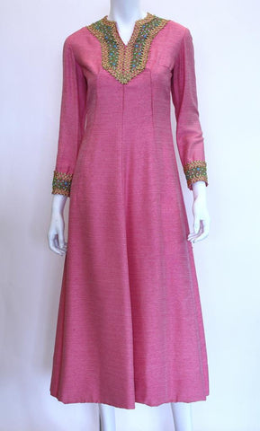 1960s EMMA DOMB Dress with Jeweled Embellishment