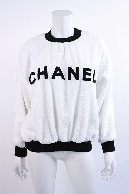 1992 Vintage Chanel Terry Cloth Sweatshirt