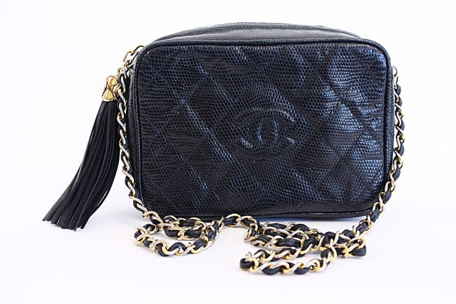 Vintage Chanel Lizard Handbag