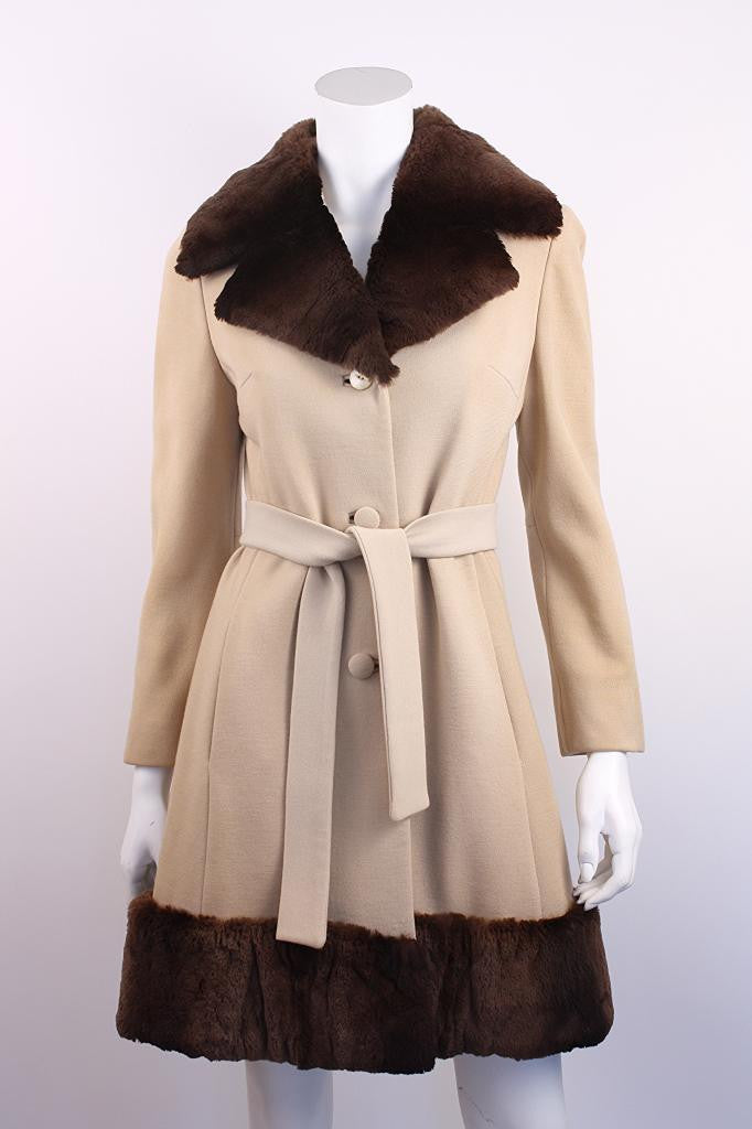 Vintage 60's Lilli Ann Wool Coat with Fur