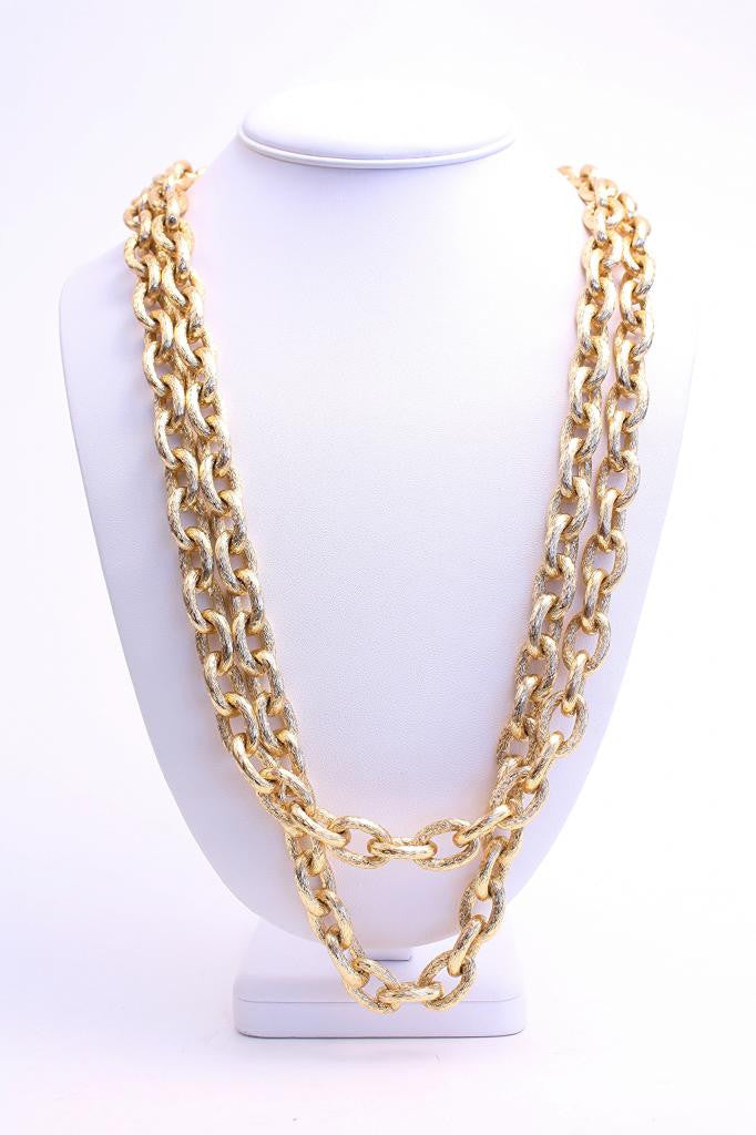 Vintage 70's Double Chain Necklace