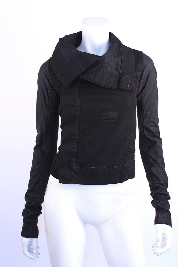 Rick Owens Black Motorcycle Jacket