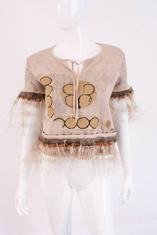 CHANEL Cashmere Feather Top