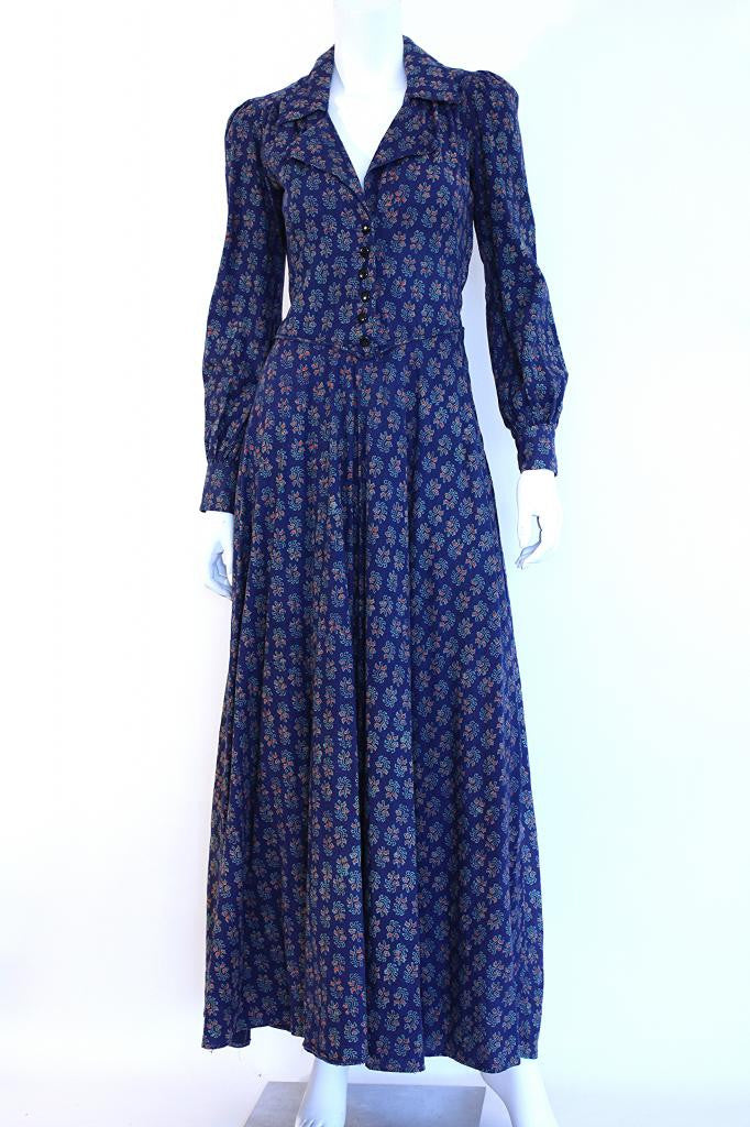Vintage 70's  Indian Cotton Maxi Dress