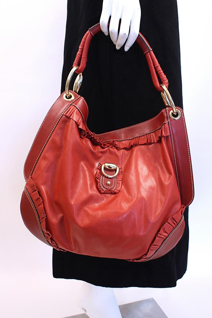 Gucci Red Leather Sabrina Bag