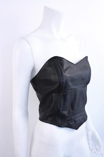 Vintage 80's Leather Bustier