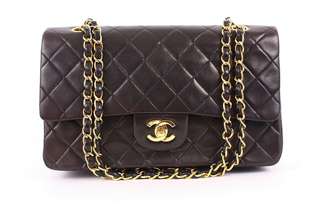 Vintage Chanel Brown Double Flap Handbag
