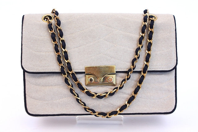 Vintage 70's Chanel couture flap handbag