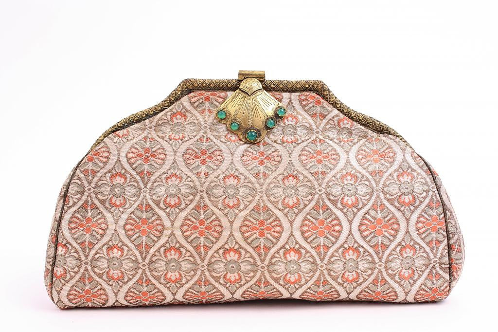 Vintage Deco French Brocade Clutch