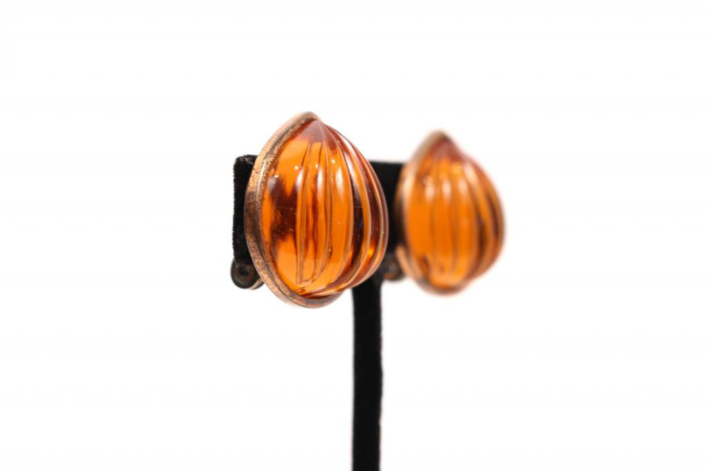 Vintage Yves Saint Laurent Glass Earrings