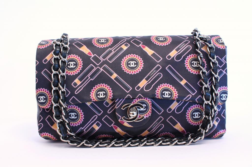 Rare Limited Edition Chanel Makeup Print Flap Bag