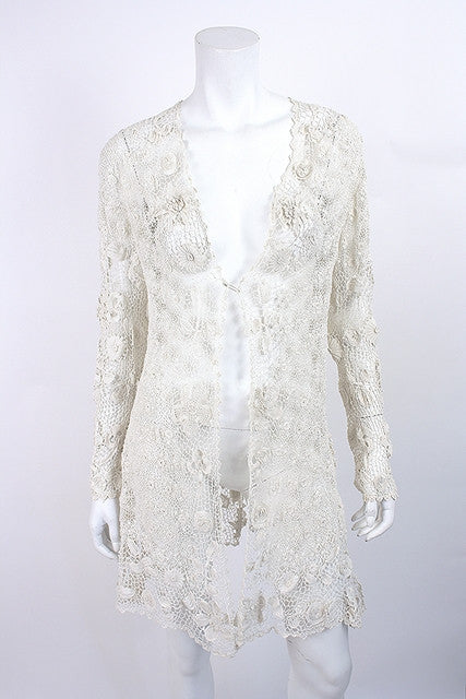 Antique Irish Lace Crochet Jacket