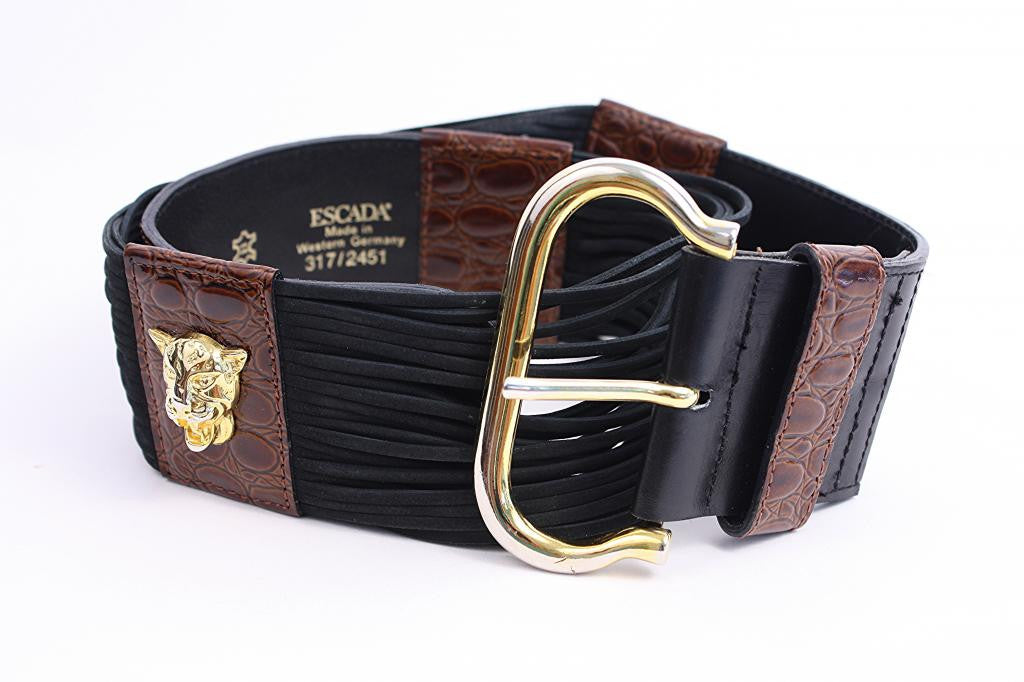 Escada Panther Fringe Belt