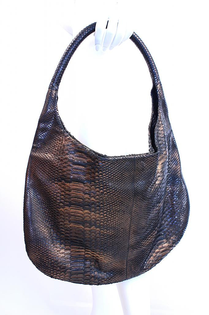 Devi Kroell Metallic Python Hobo bag