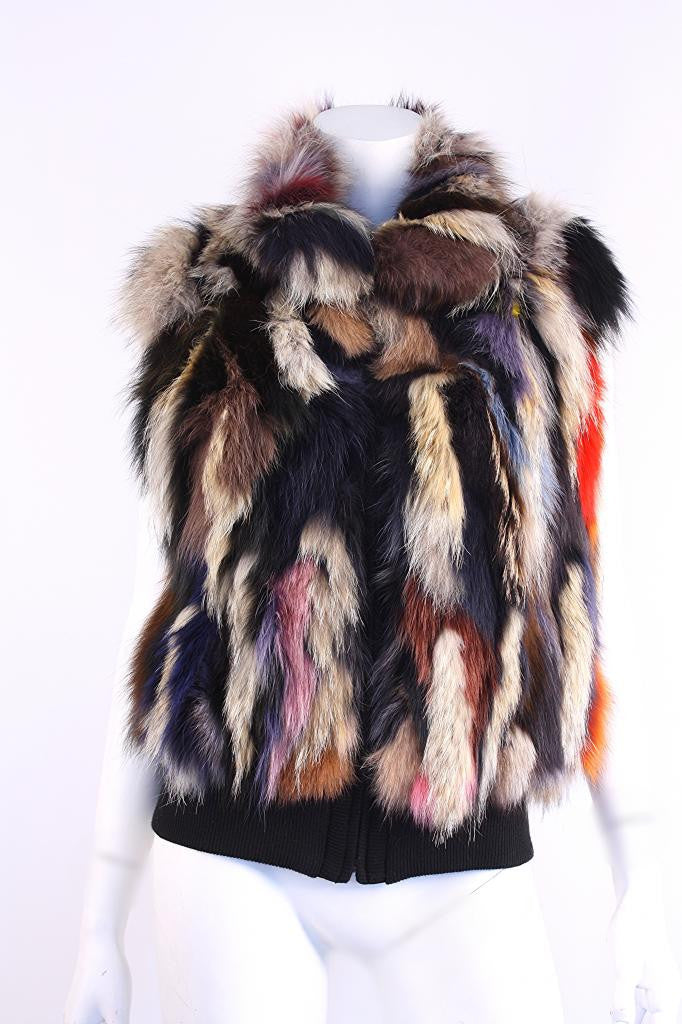 Inochi Rainbow Fox & Coyote Fur Vest