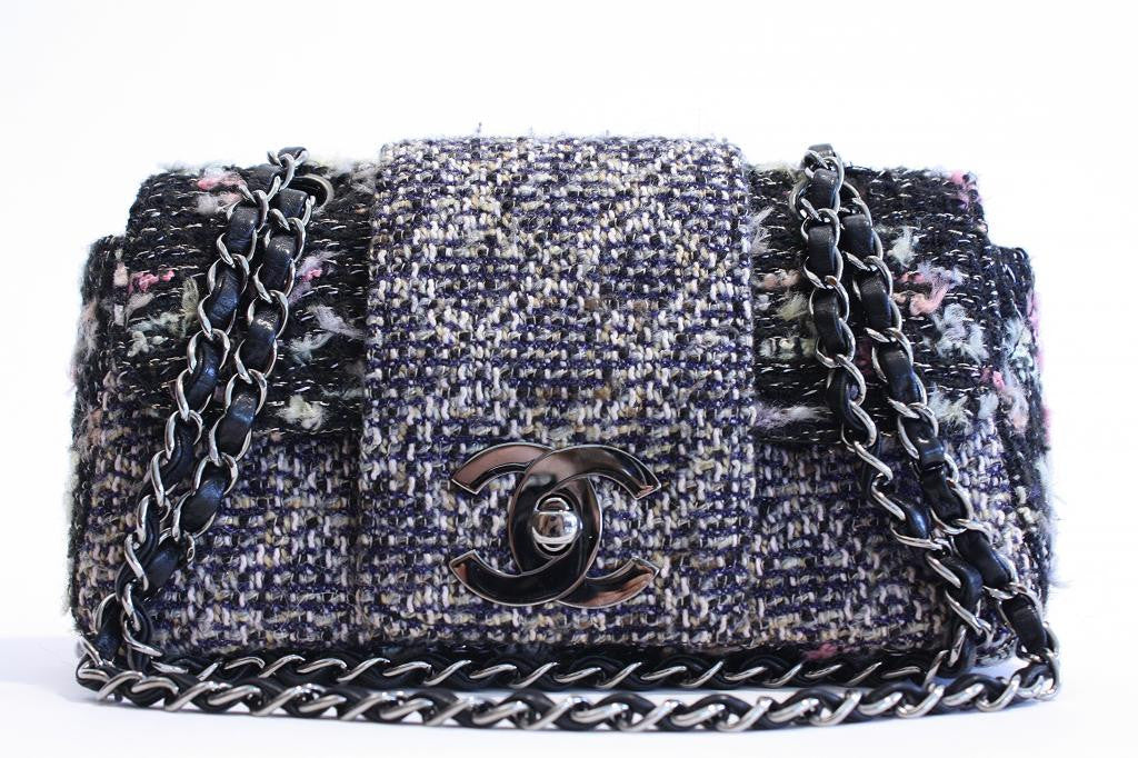 Chanel Tweed Boucle Flap Handbag