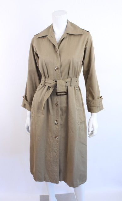 Vintage 70's Yves Saint Laurent Safari Trench Coat