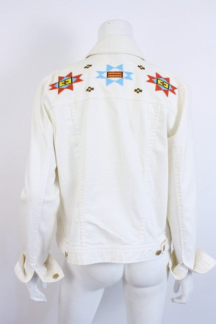 Ralph Lauren Southwest Denim Beaded Jacket
