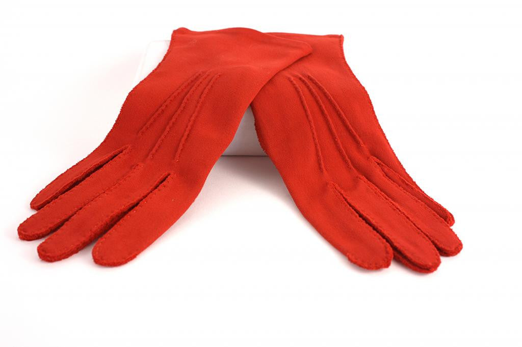Vintage 60's Red Gloves