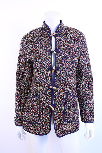Vintage 70's Liberty Print Quilted Jacket