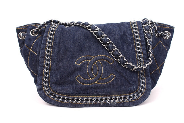Chanel Denim Flap Bag with Chain