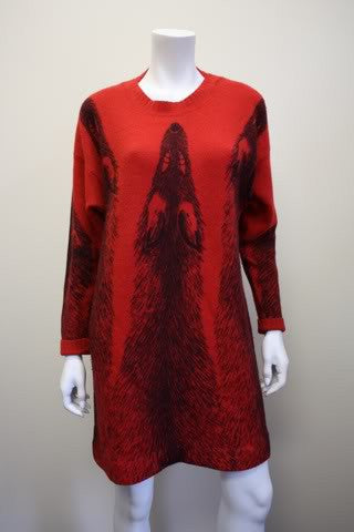 Vintage KRIZIA MAGLIA Fox Sweater Dress