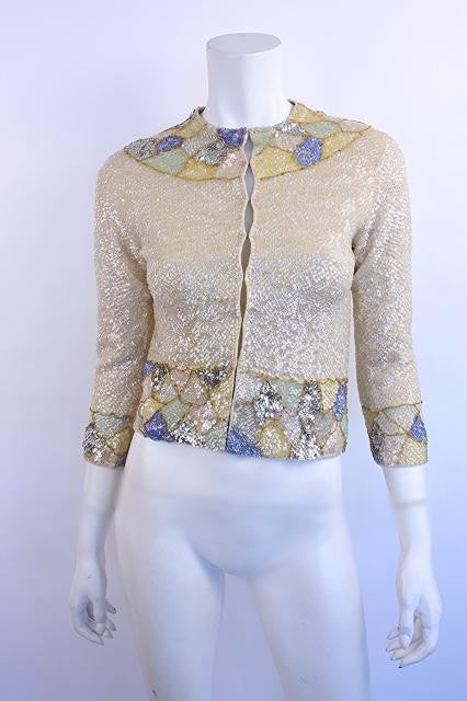 Vintage 60's Sequin Cardigan Sweater