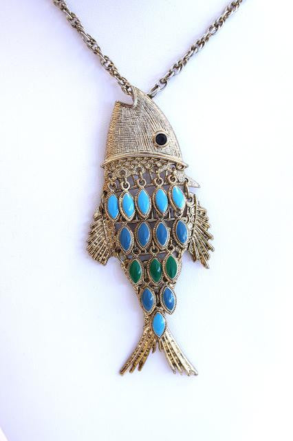 Vintage 70's Fish Necklace