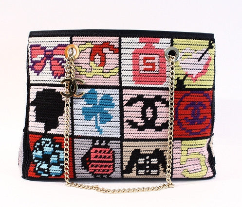 Vintage Chanel Precious Symbol Needlepoint Bag