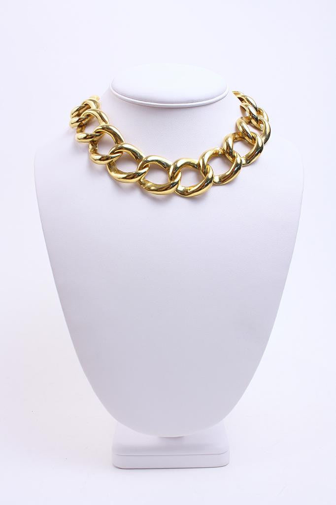 Vintage Gold Chain Link Necklace