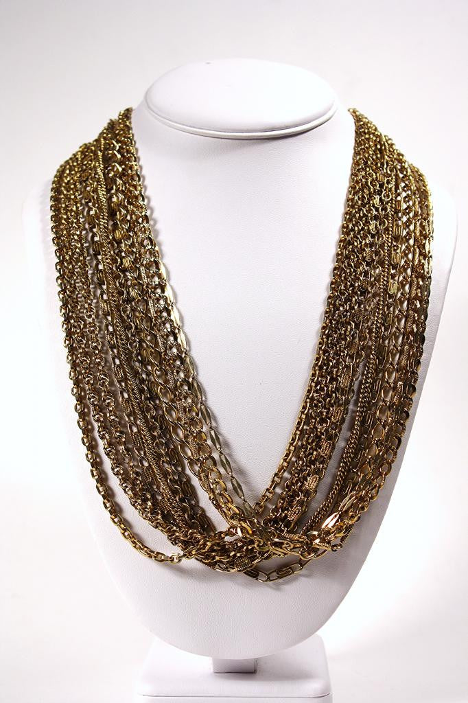 Vintage HATTIE CARNEGIE 11 Strand Chain Necklace