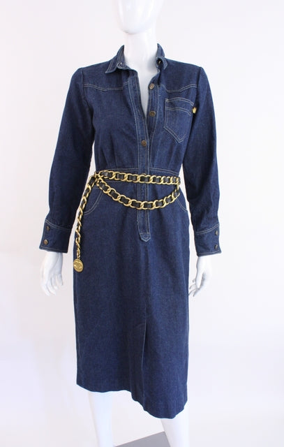 Vintage 80's Sasson Denim Dress