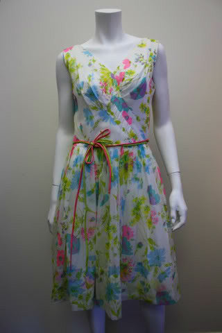 floral dress from 1960s
