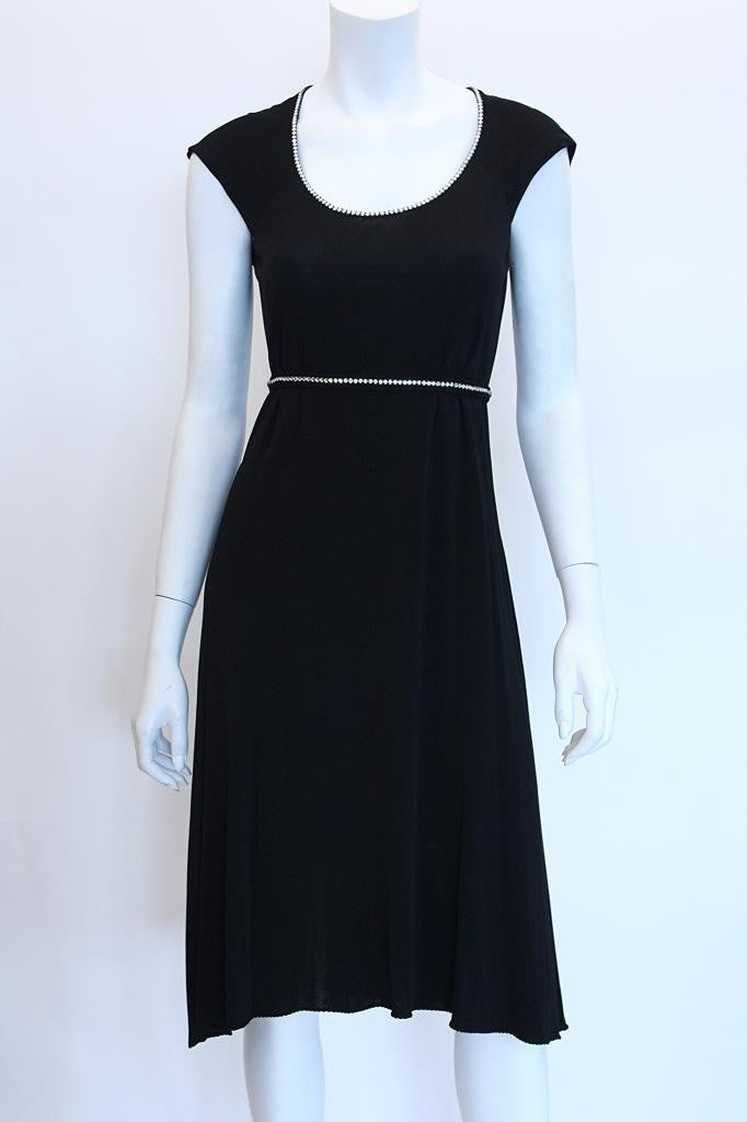 1970s STEPHEN BURROWS Black Jersey Dress