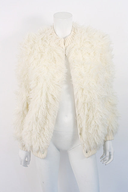 Vintage French Fuzzy String Coat