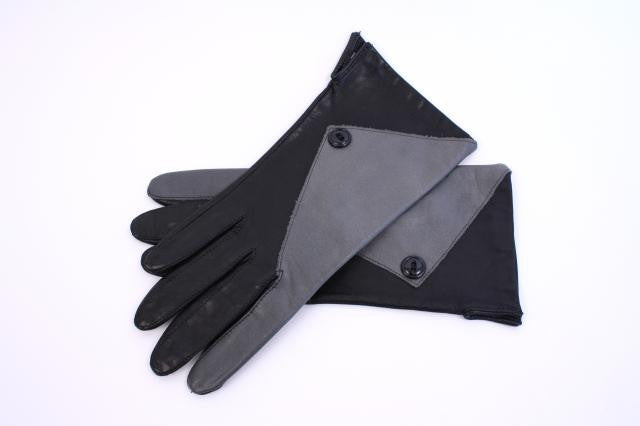 Vintage Two Tone Leather Gloves
