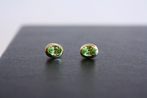 14K Gold & Peridot Stud Earrings
