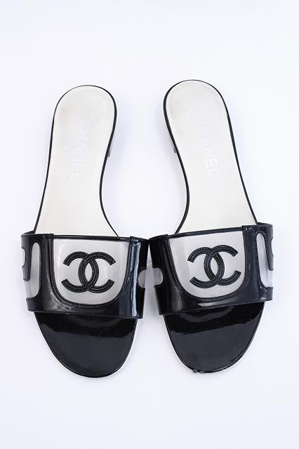 Authentic Chanel CC Sandals