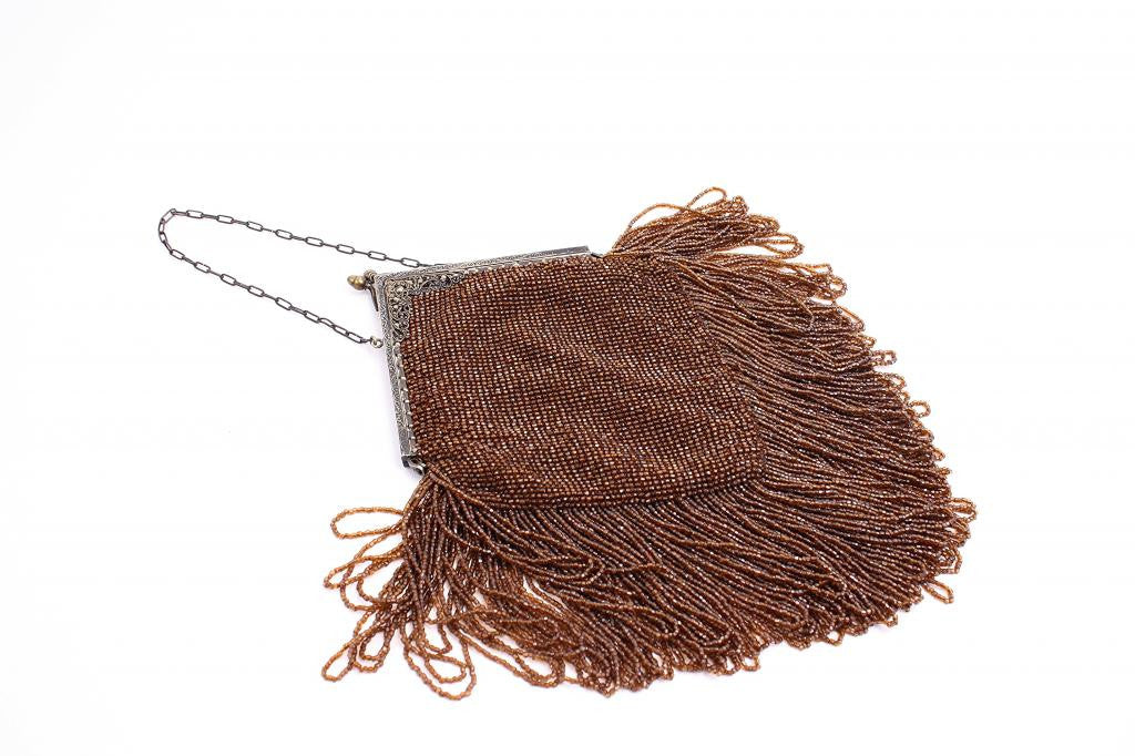 Vintage Deco Beaded Fringe Handbag