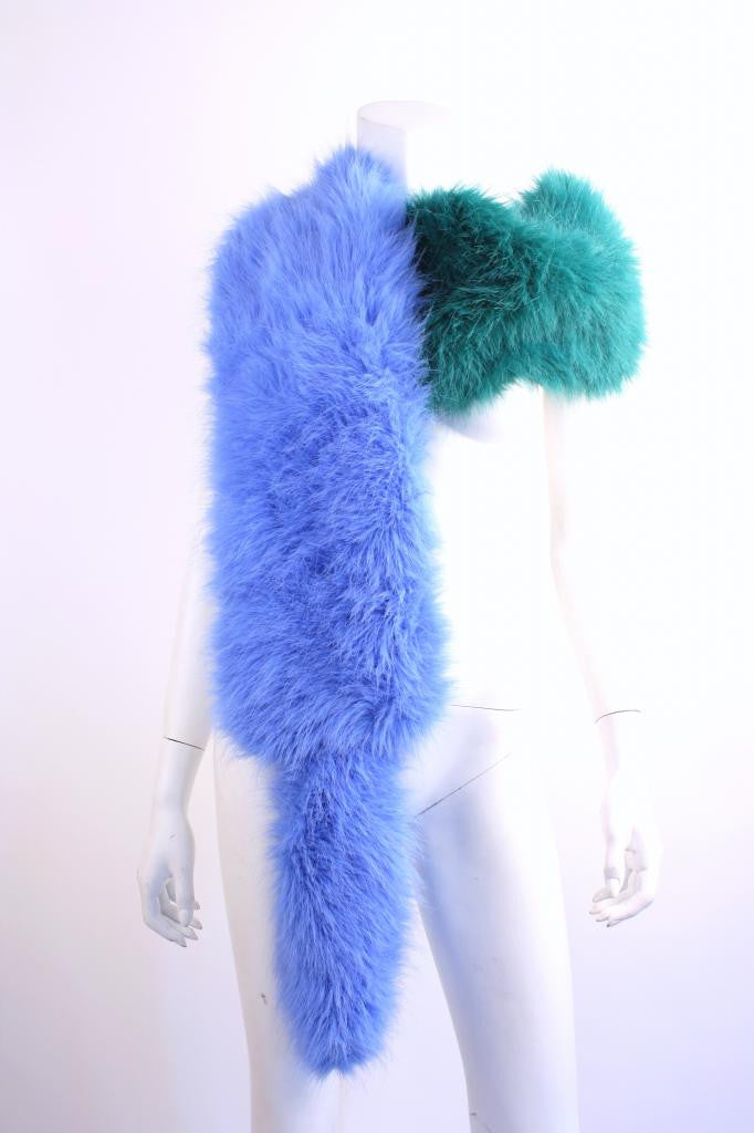 PRADA Runway Faux Fox Fur Stole