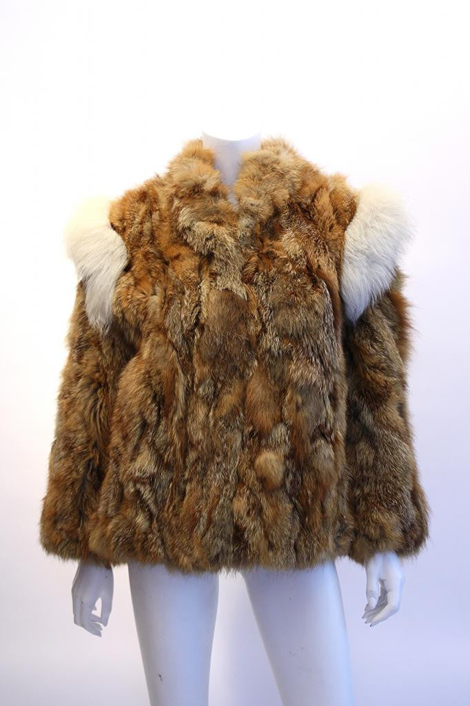 Vintage 80's Red Fox Fur Coat