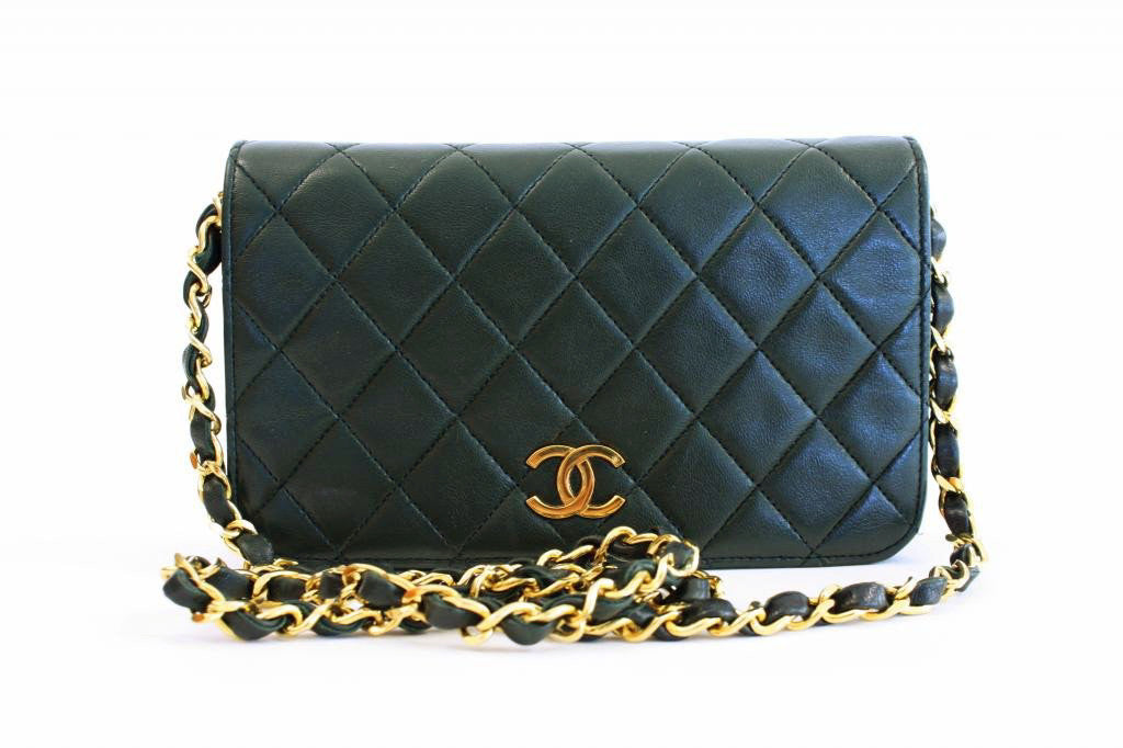 Vintage Chanel Green Flap Bag