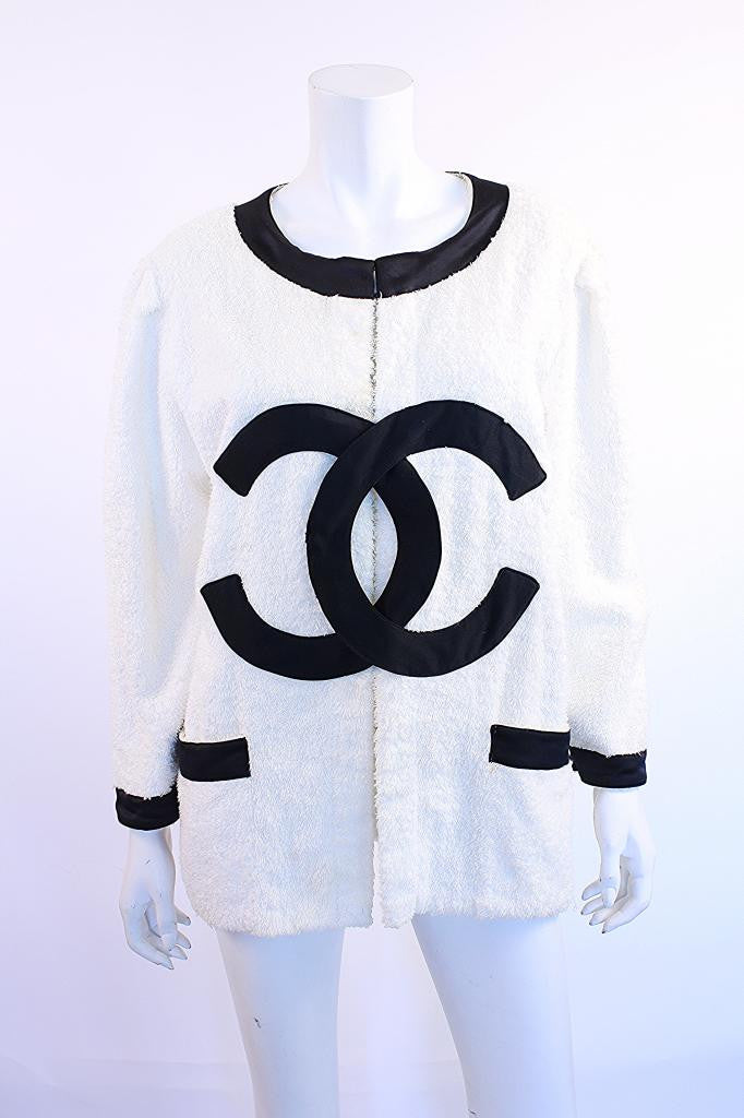 Rare Vintage Chanel Terry Cloth Jacket & Skirt