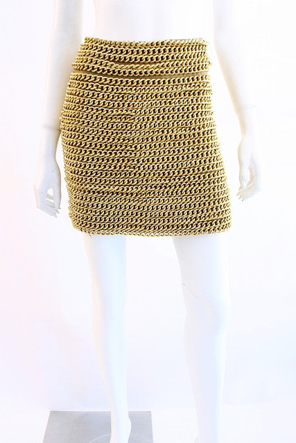 Vintage 60's Real Chain Mini Skirt