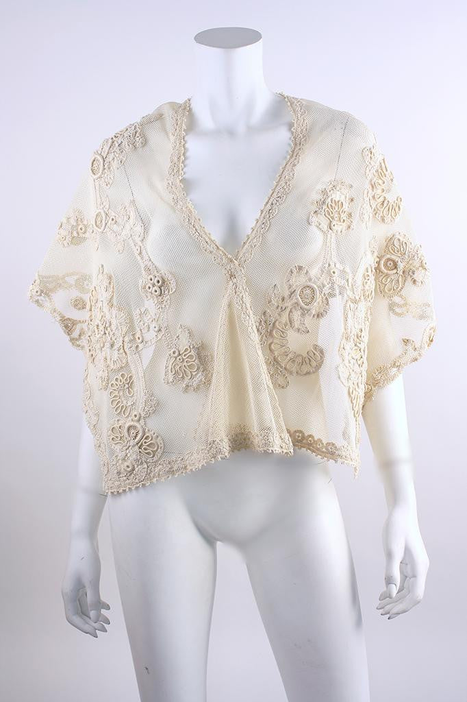 Antique Irish Lace Shawl