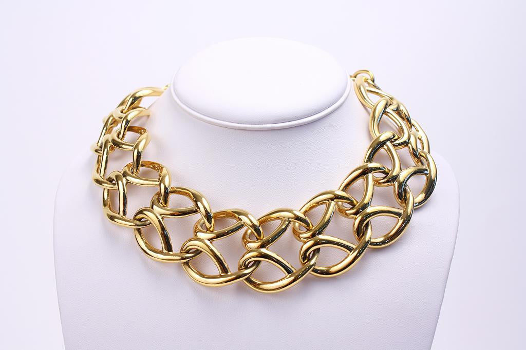 Vintage GIVENCHY Gold Multi Link Necklace