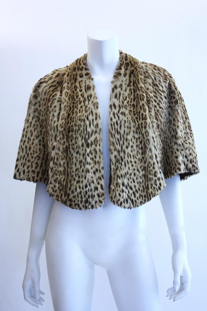 Rare Vintage GEOFFREY CAT Fur Cape
