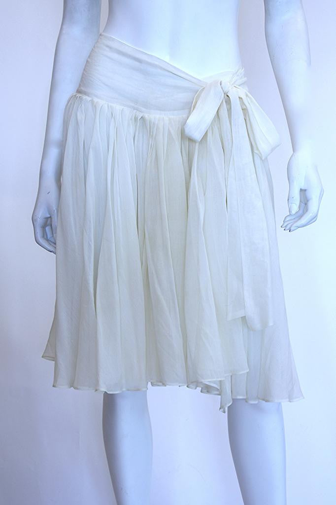 CHLOE Cream Wrap Skirt