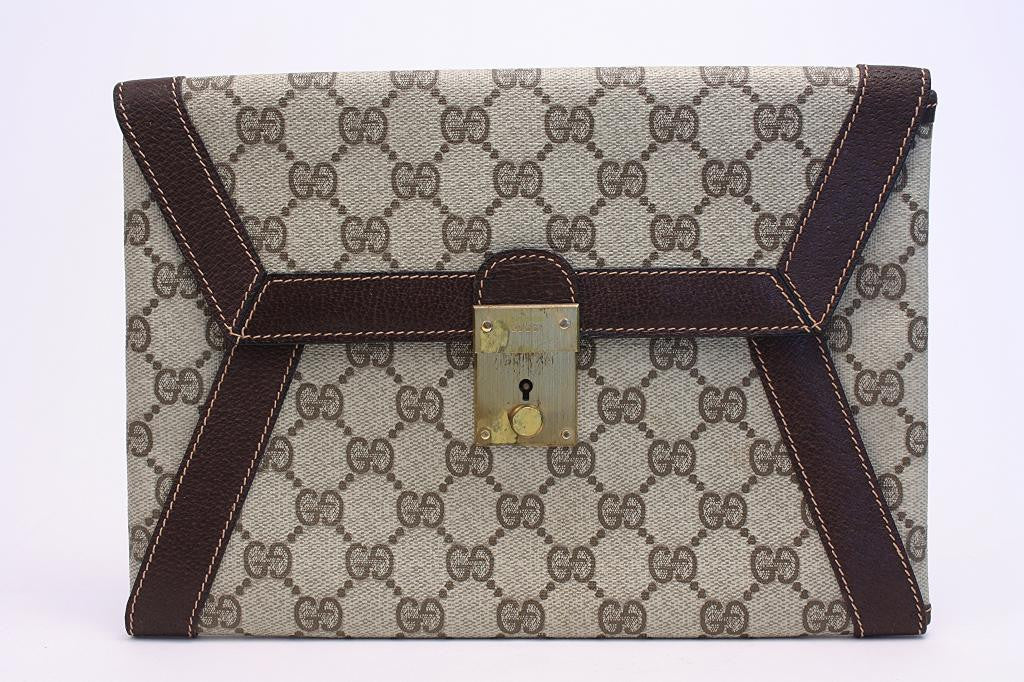 Vintage Gucci Monogram Envelope Clutch