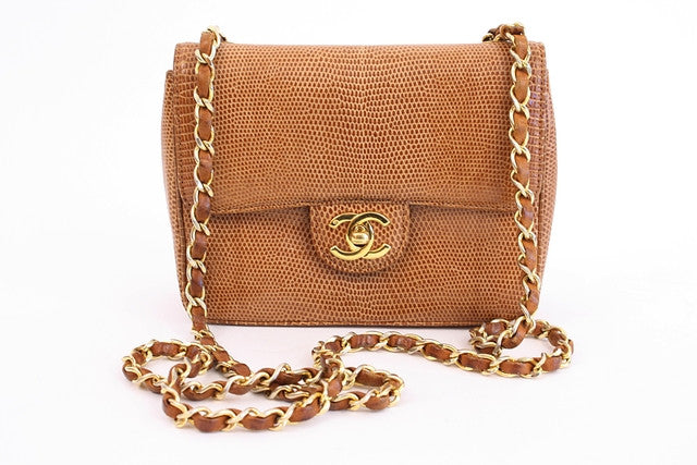 Vintage Chanel Lizard Small Mini Handbag